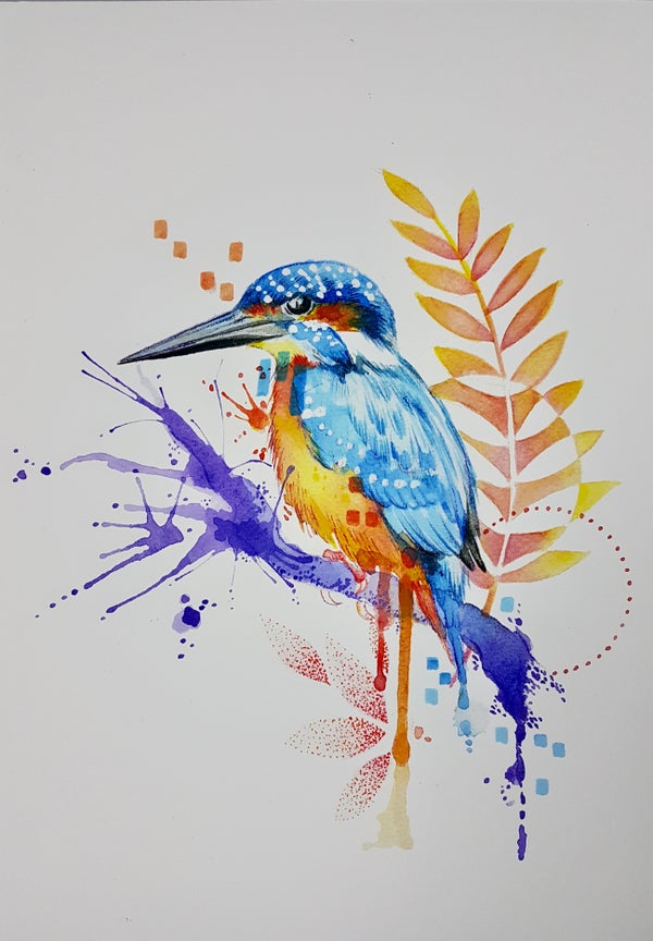 Image of Kingfisher unframed size A4