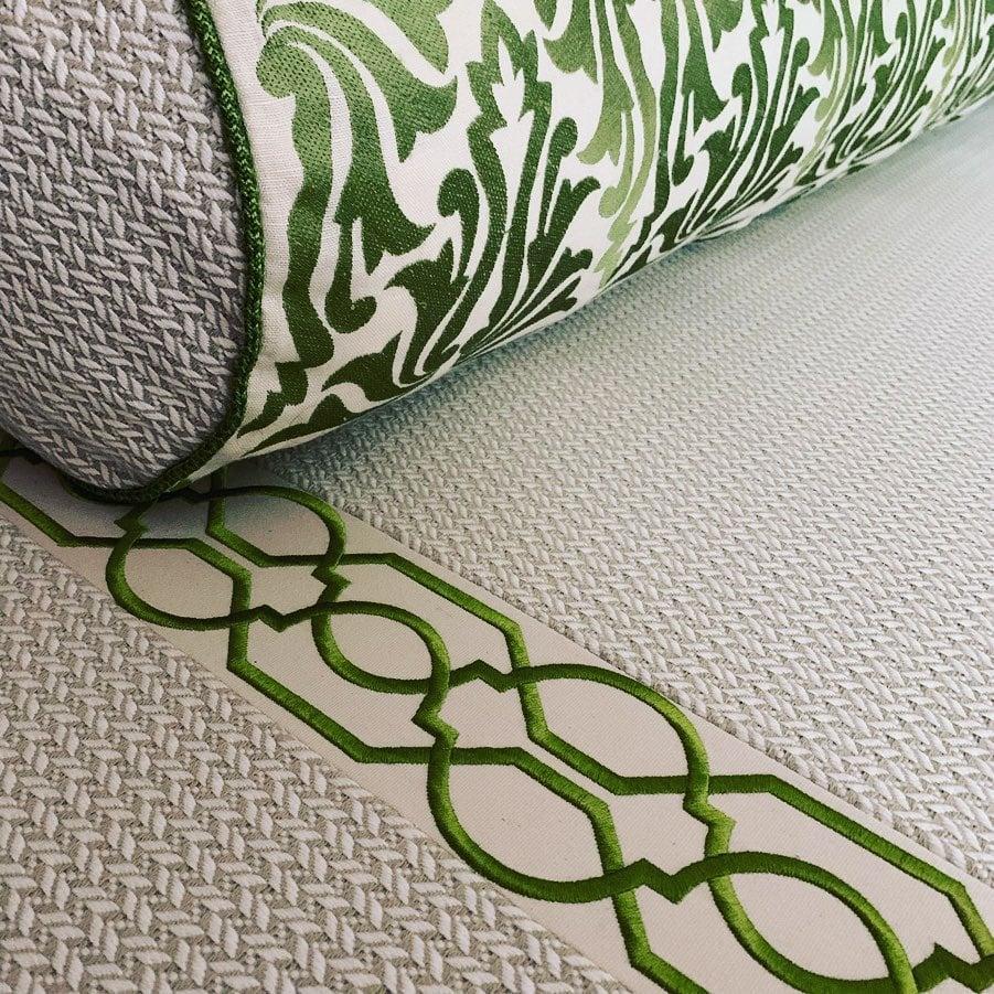 Image of Mint Leaves Floor Sofa