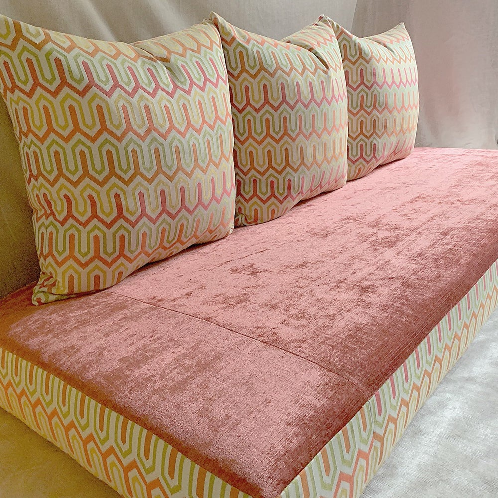Image of Pink Palace Floor Sofa