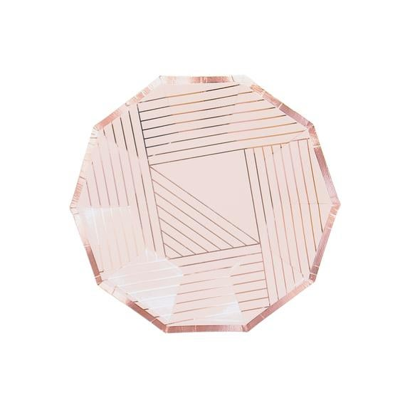 Image of Manhattan - Pale Pink Rose Gold Small Plates
