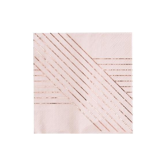 Image of Pale Pink Cocktail Napkins