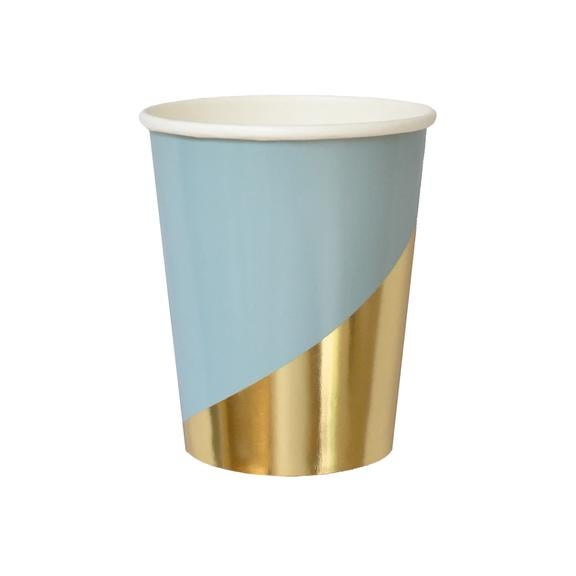 Image of Malibu - Blue and Gold Colorblock cups