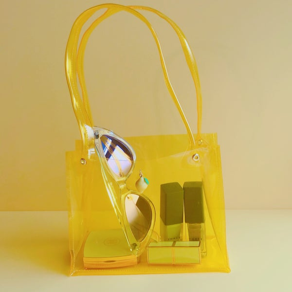 Image of mini pvc bag lemon yellow🍋