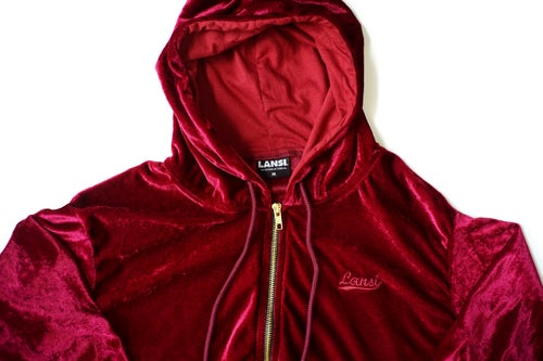"Image of LANSI ""Moss"" Jacket (Burgundy)"