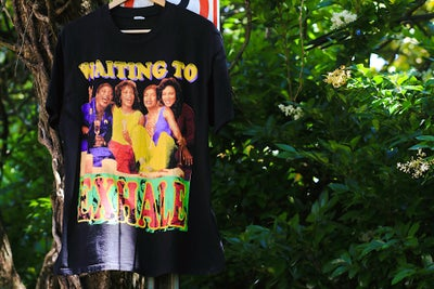 "Image of Rare 1995 Vintage Bay Club ""WAITING TO EXHALE""  Single-Stitched Rap Tee"