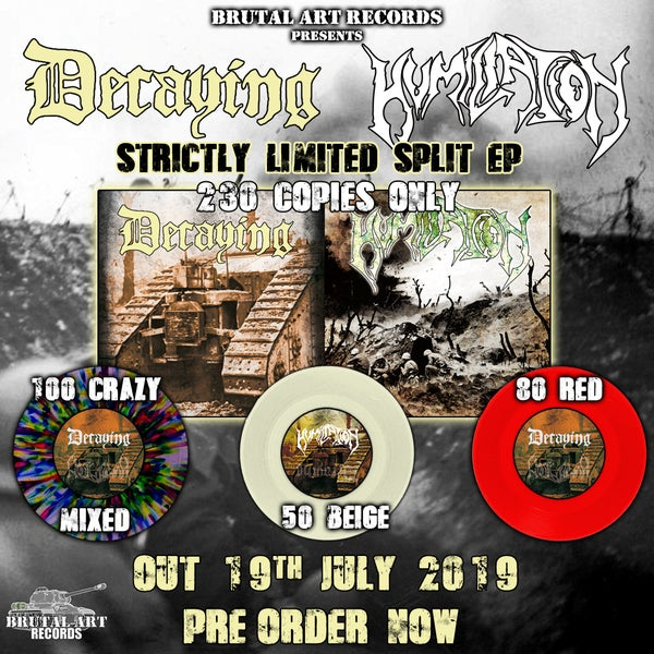 Image of Split EP with Decaying 19th July 2019