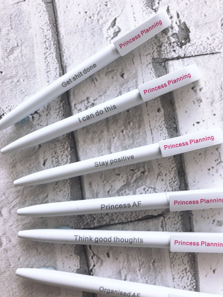 Image of PRINCESS PLANNING SLOGAN PENS