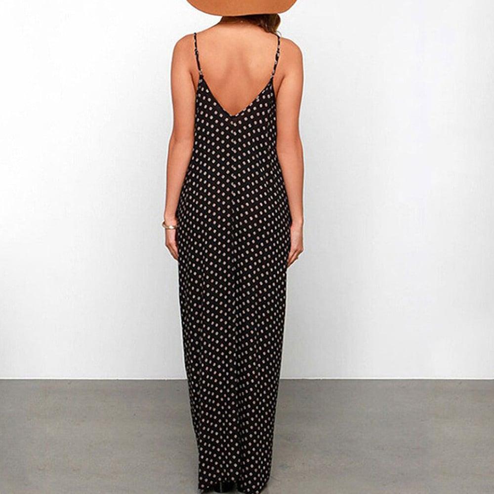 Image of Loose polka dot chiffon maxi dress