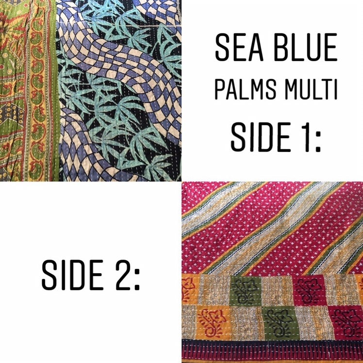 Image of •Karta• vintage kantha quilts: various patterns
