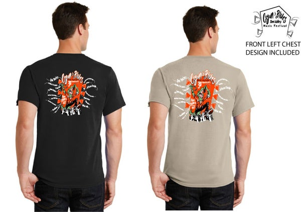 Image of LAST PRINT EVER - Black or Sand 2019 Collectible Festival Tshirt!