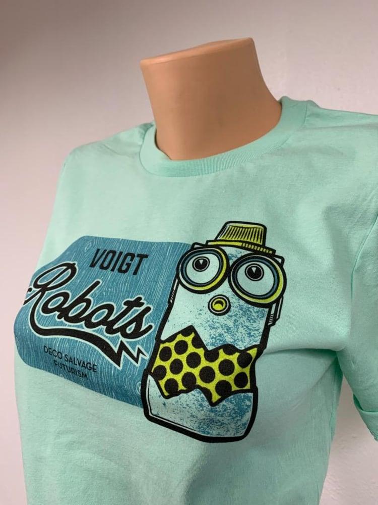 Image of Voigt Robots Mint T-Shirt