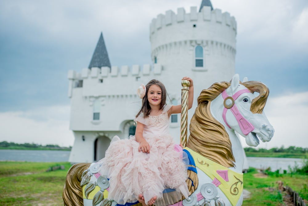 Image of Royal Castle Minis with gold chair, DRAGON, and horse  $200 pay half price to hold your spot.