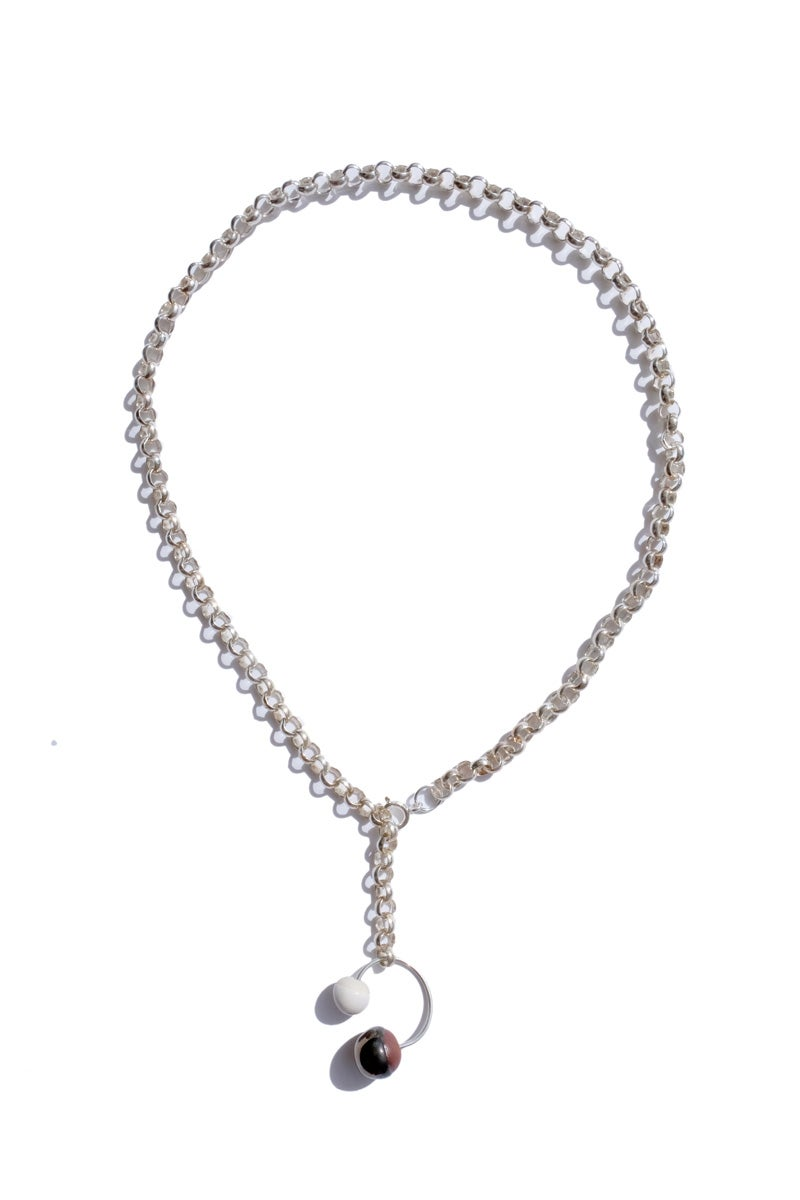 Image of chunkie silver necklace