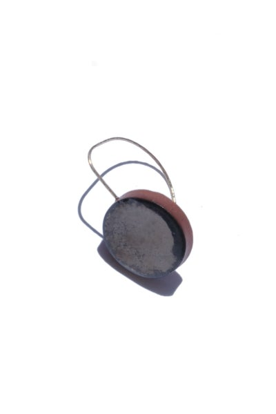 Image of palladium circle earring