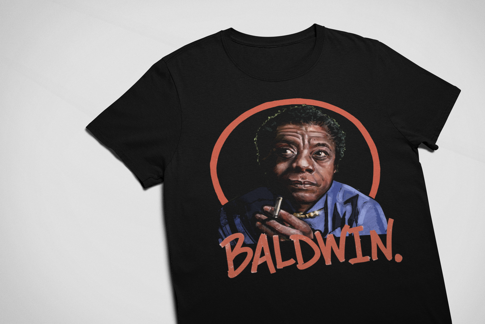"Image of ""James Baldwin"" T-Shirt & Hoodies"