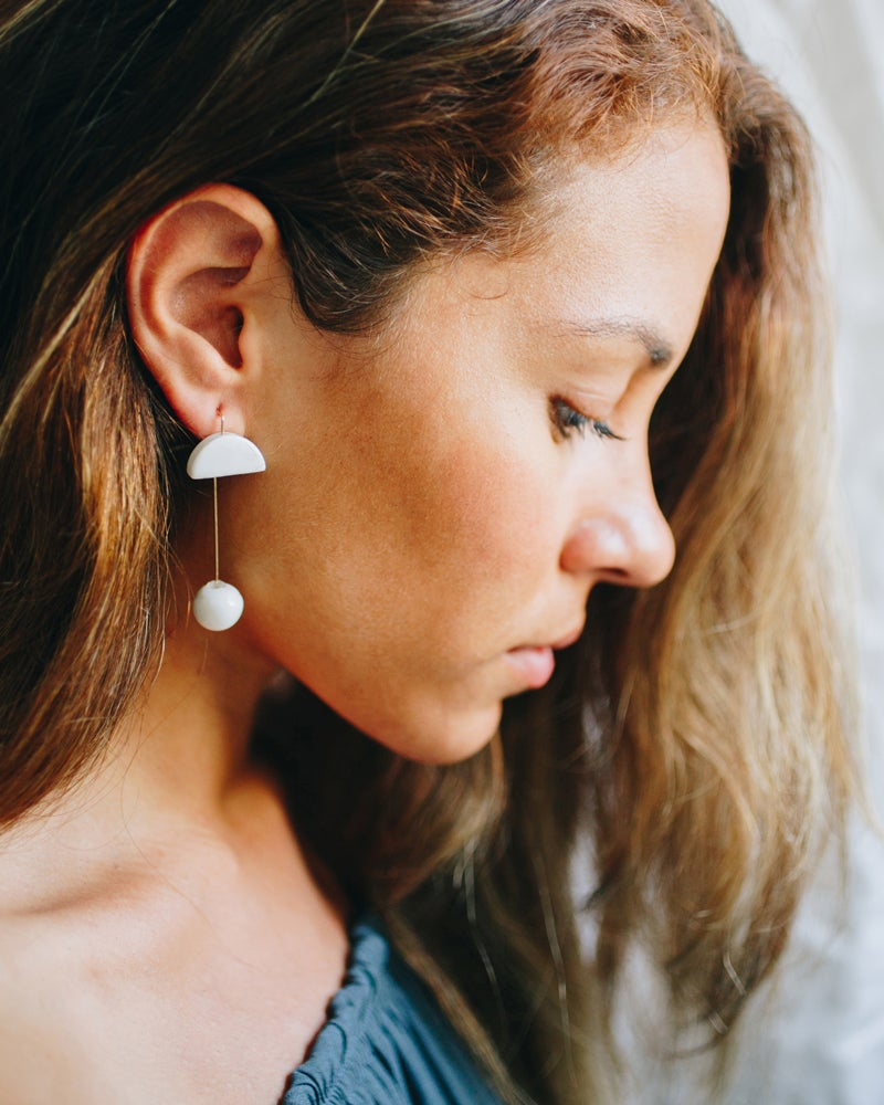 Image of pin earring