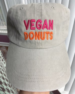 Image of Vegan Donuts patch/beanie/hat