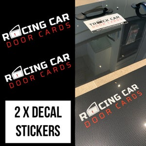 Image of 2 x Track / Rally / Racing / Drift Car Door Cards Decal Stickers