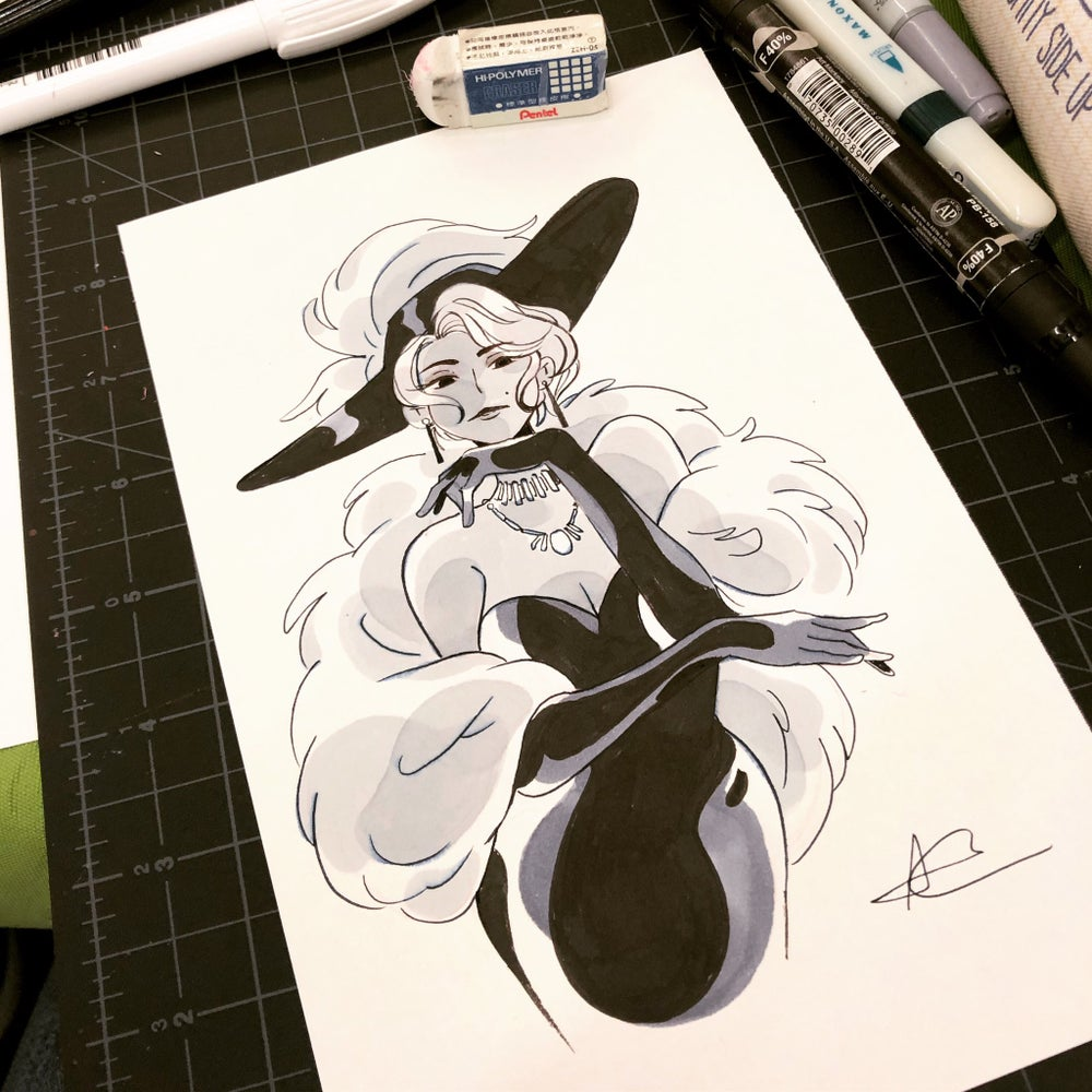 """Image of 5""""x8.5"""" Ink/Marker Commission"""