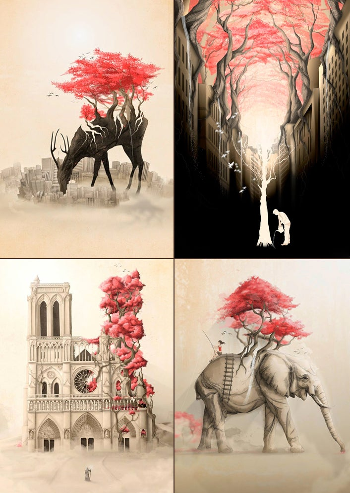 Image of Colección Revenge of the Nature x4 (elige 4 prints 30x42 cm)
