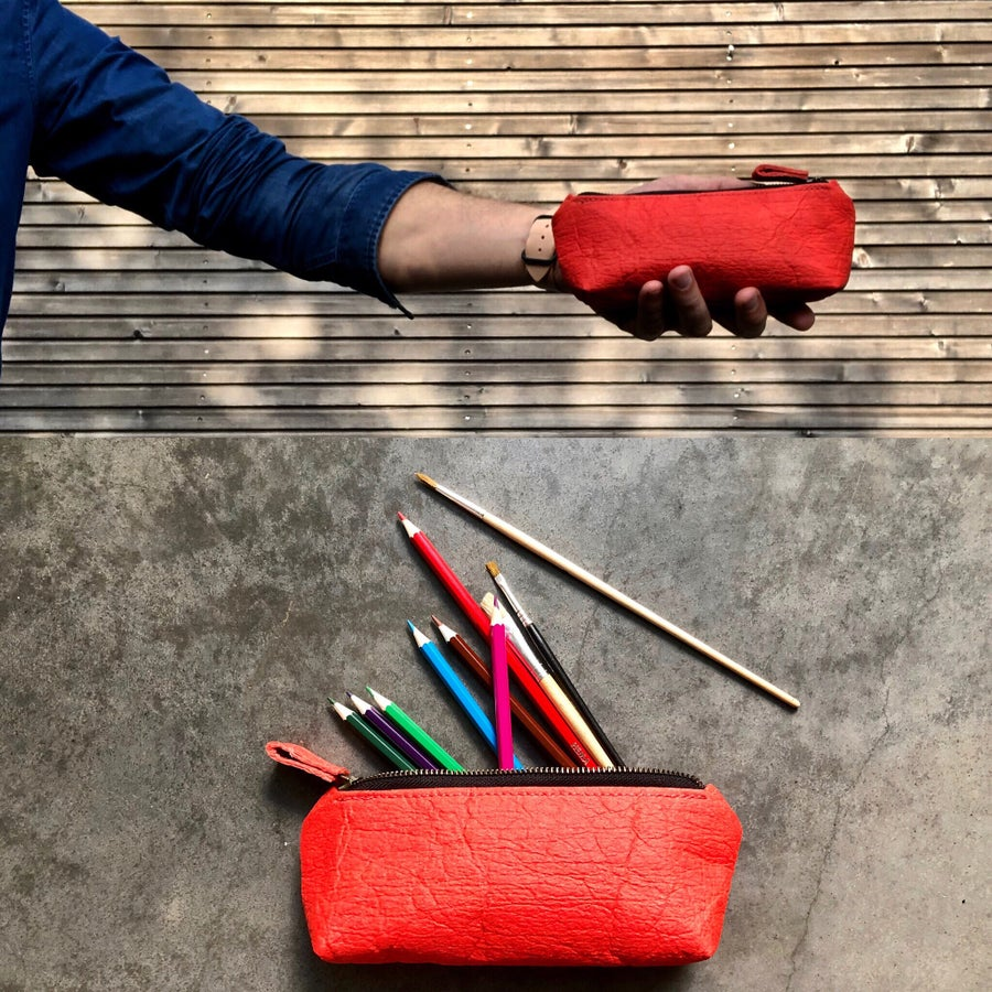 Image of Pencil case, small pouch, pencil pouch made in Piñatex™