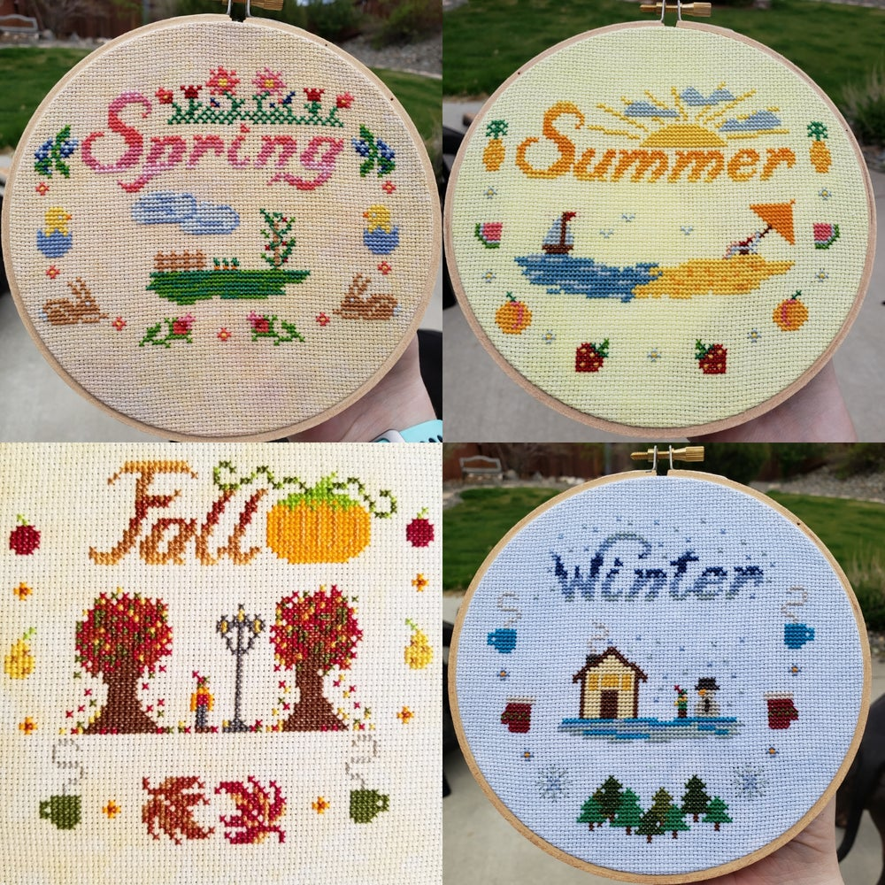 Image of Tiny StitchAlong Seasons PDF PATTERN PACK