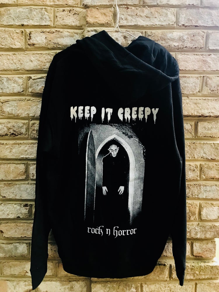 Image of Keep It Creepy Zip Up Hoodie