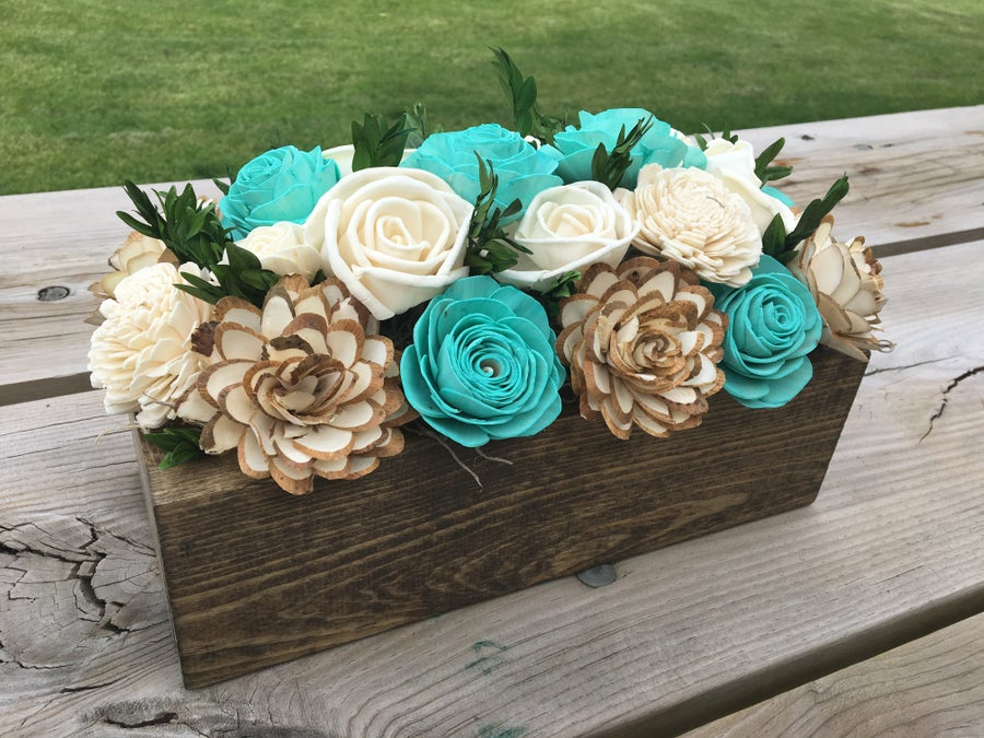 Image of Wood Centerpiece Box