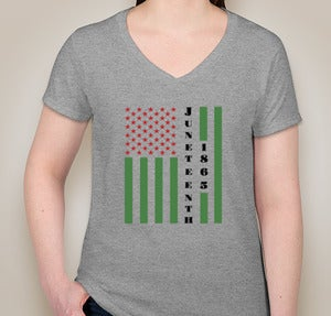 Image of Juneteenth T-Shirt - Greys