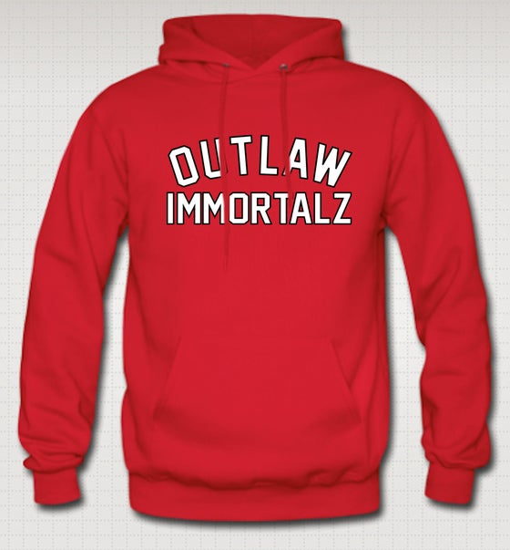 Image of Outlaw Immortalz Hoodie - Comes in Black,Grey,Red,Navy Blue