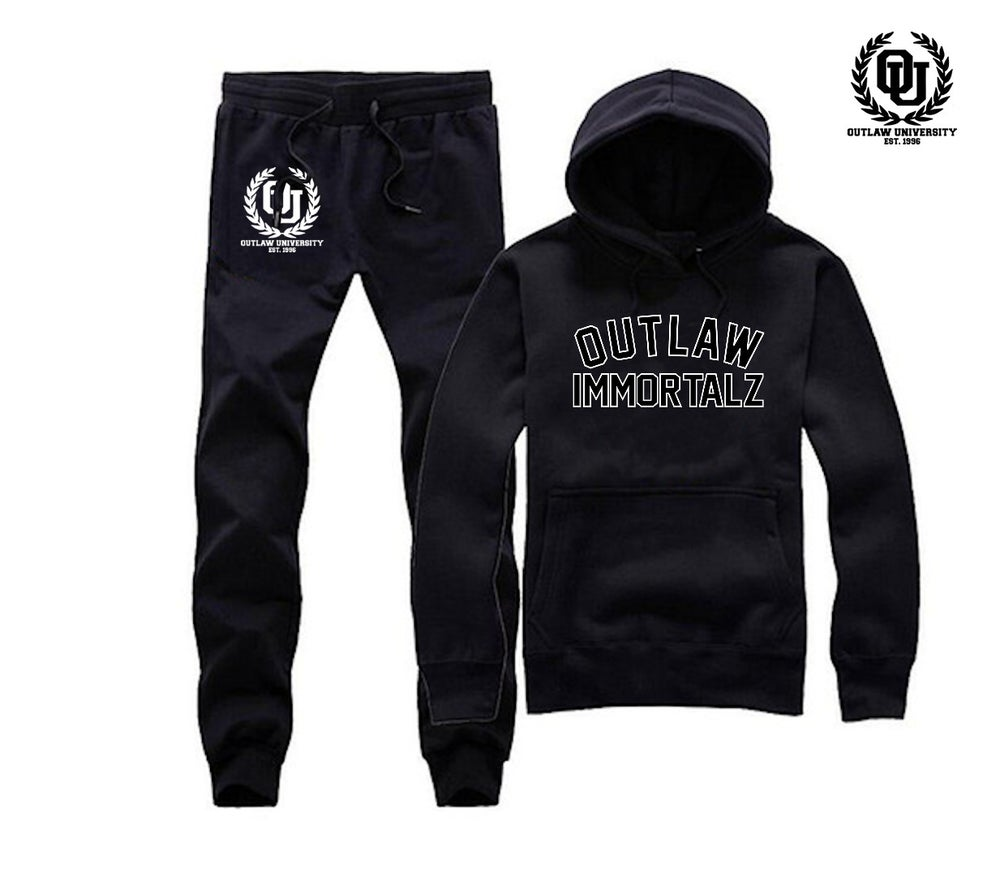 Image of Outlaw Immortalz Unisex Sweatsuit- Comes in Black,Grey,Red,Navy Blue
