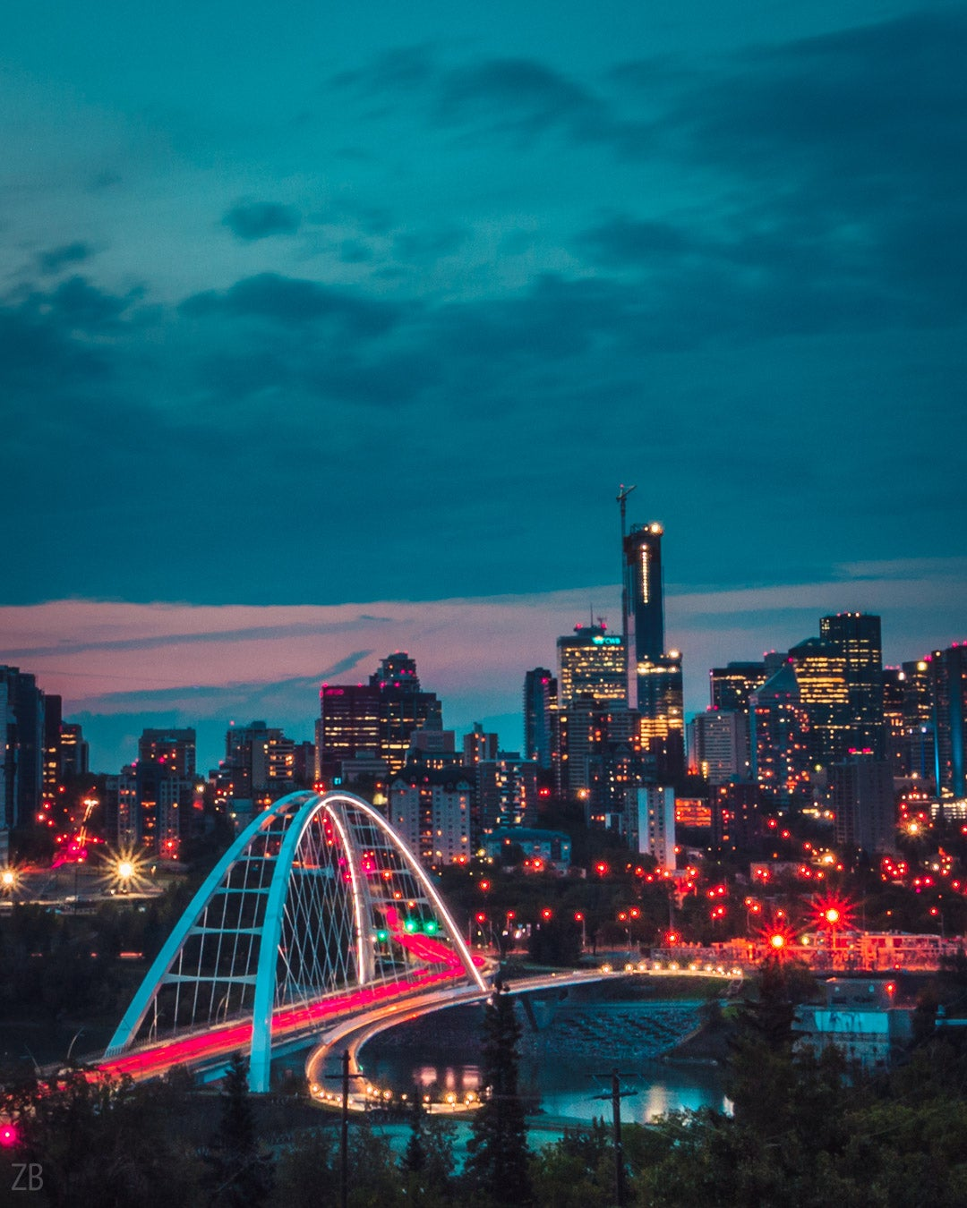 Image of Edmonton Skyline Sunset