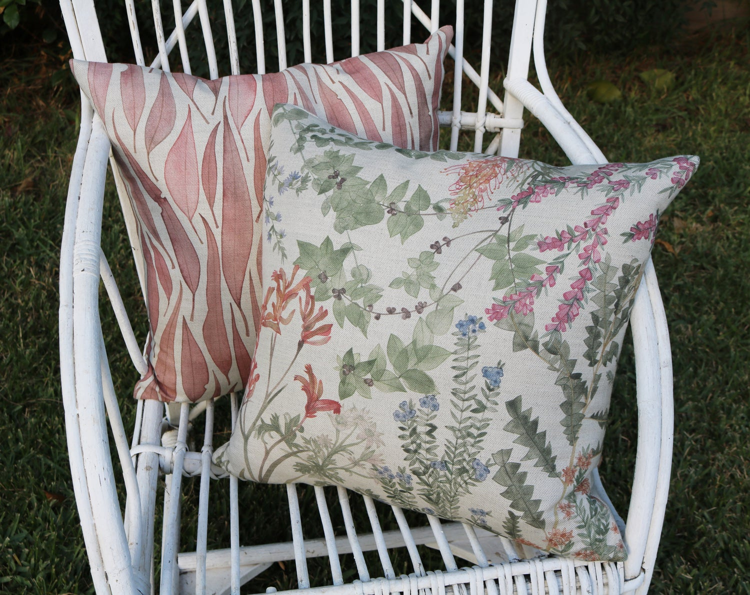 Image of Wildflower Garden Belgian Cotton Linen Cushion