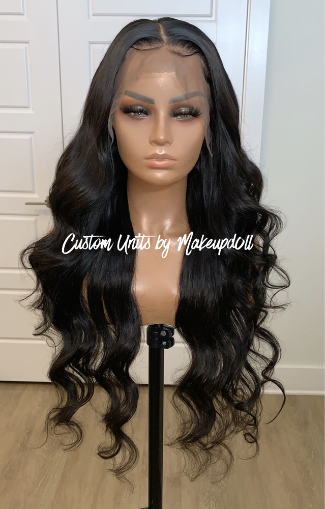 "Image of Peruvian Body Wave 28"" Lace Frontal Wig!"