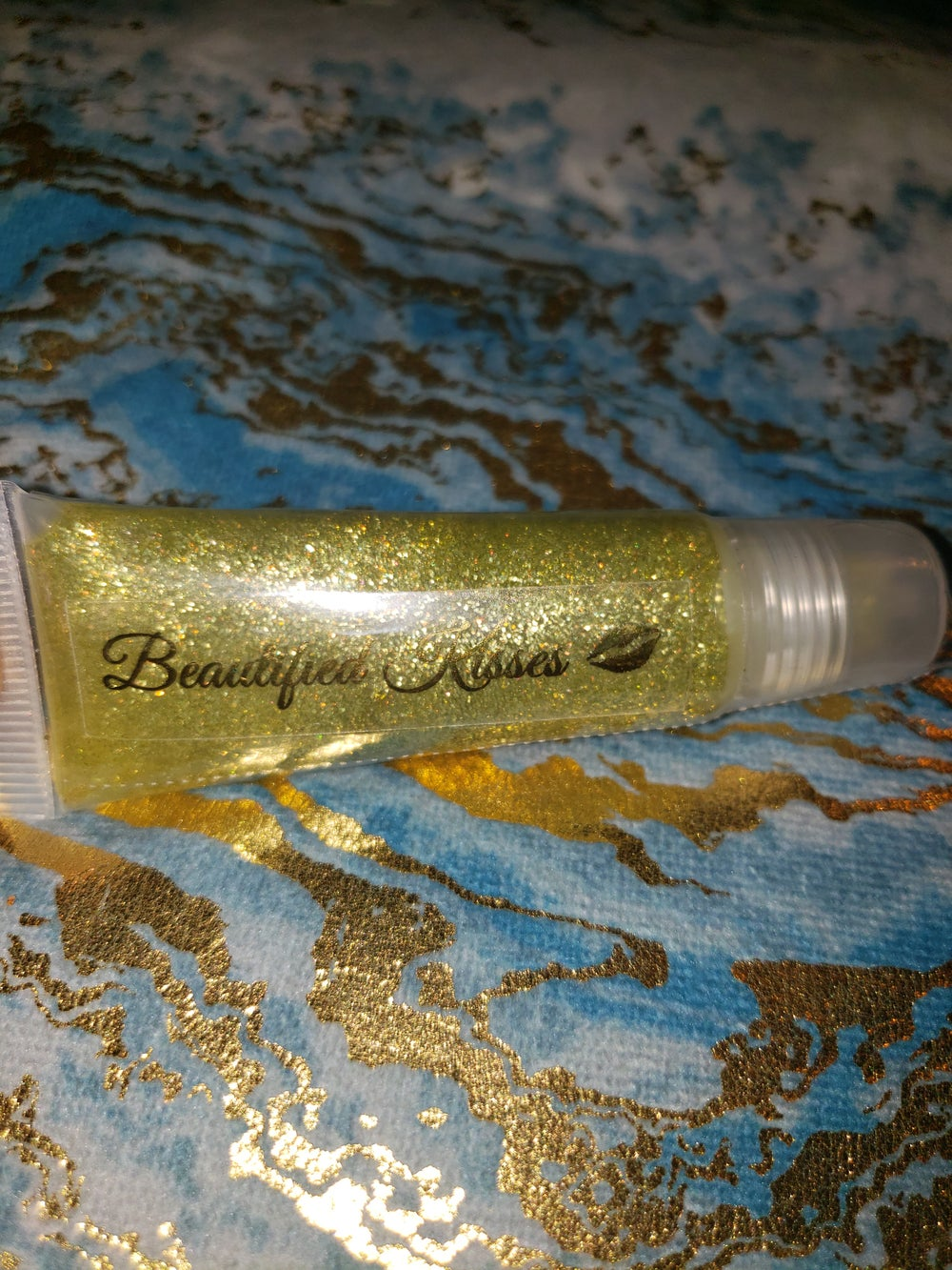 Image of Beautified Kisses Lip Gloss - Gold Mind