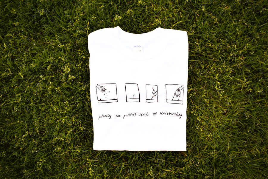 Image of Planting Positivity Tee (white)