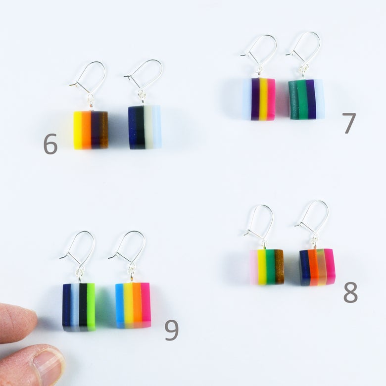 Image of Little Layered Lump earrings 6 to 9