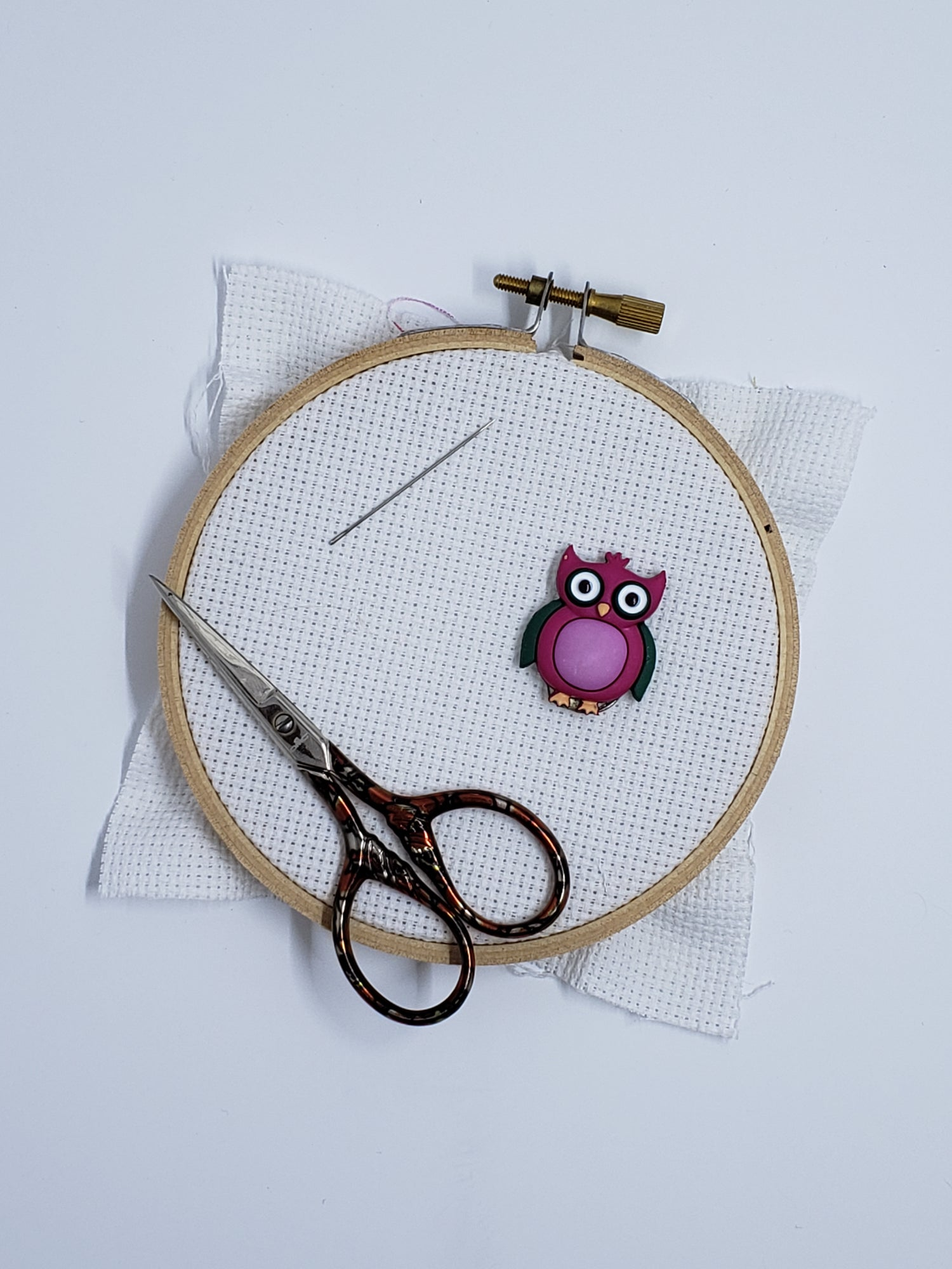 Image of Needle Minder - Pink Owl