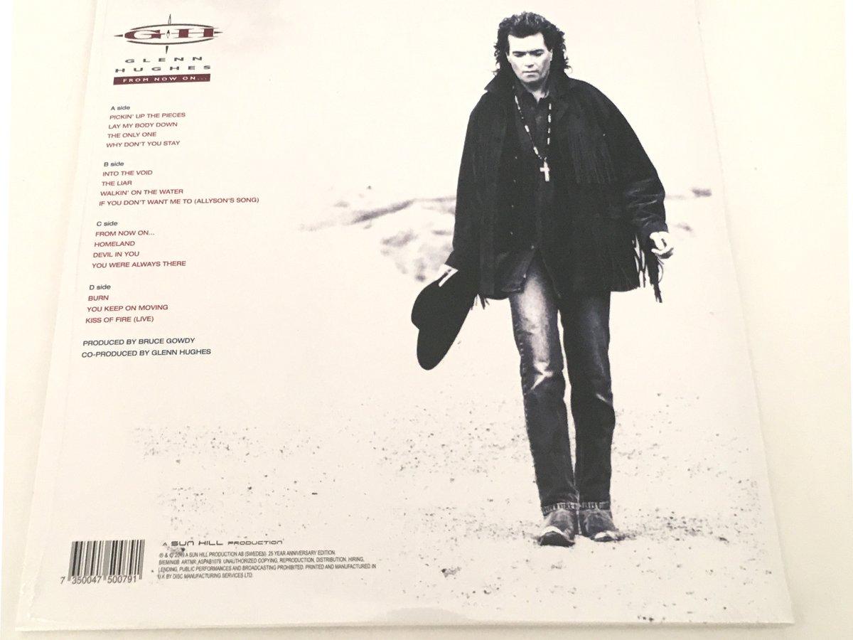 Image of Glenn Hughes - From Now On.. ( 2 LP) Anniversary Edition. (White Vinyl)