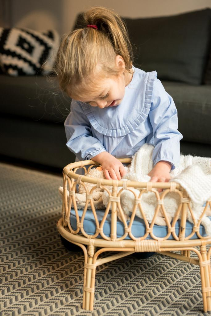 Image of  Poppie Crib Baby Blue
