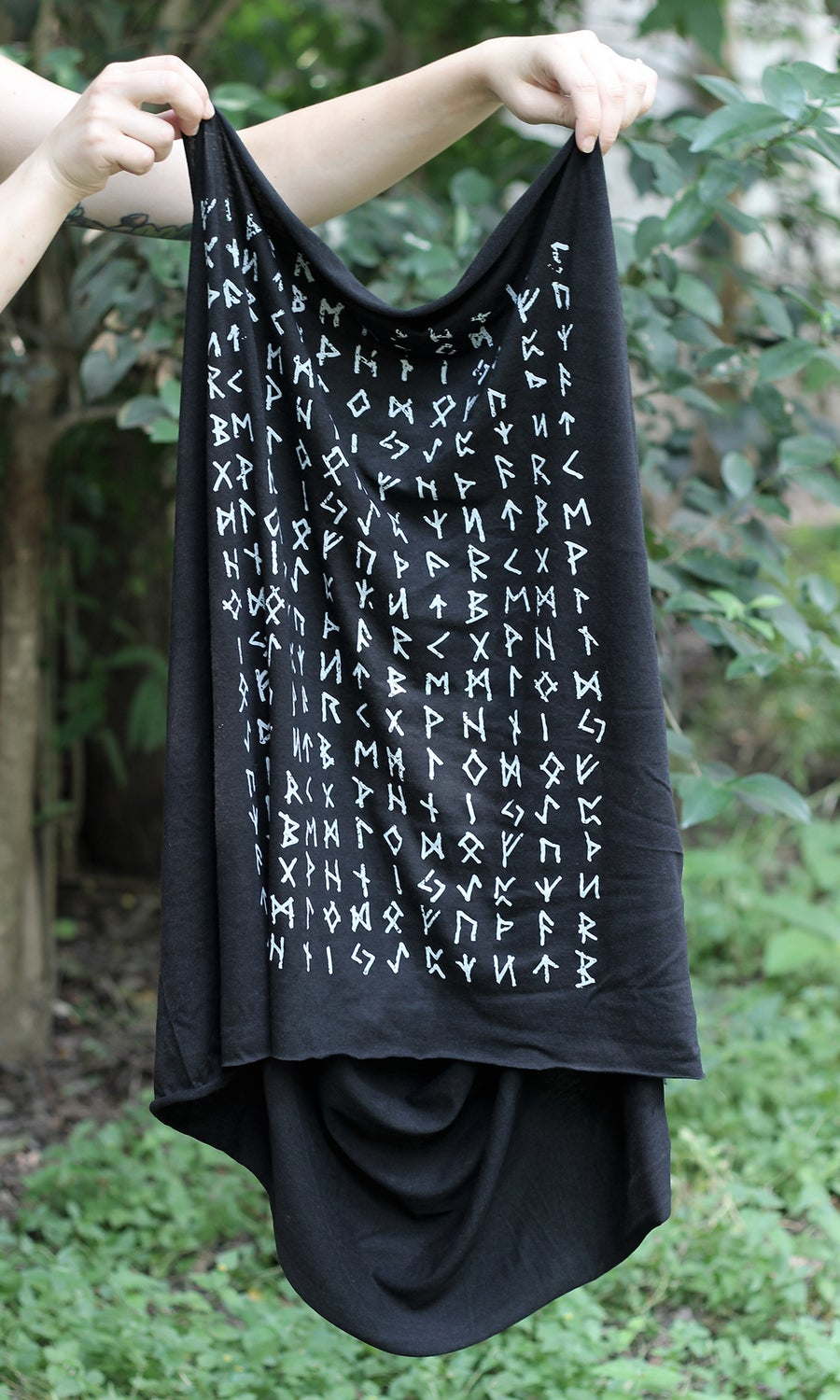 Image of PRE ORDER RUNIC INFINITY SCARF ORGANIC BAMBOO