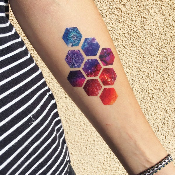 Image of diamonds temporary tattoo pack (set of 3)