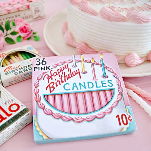Image of Box of Birthday Candles mini plaque