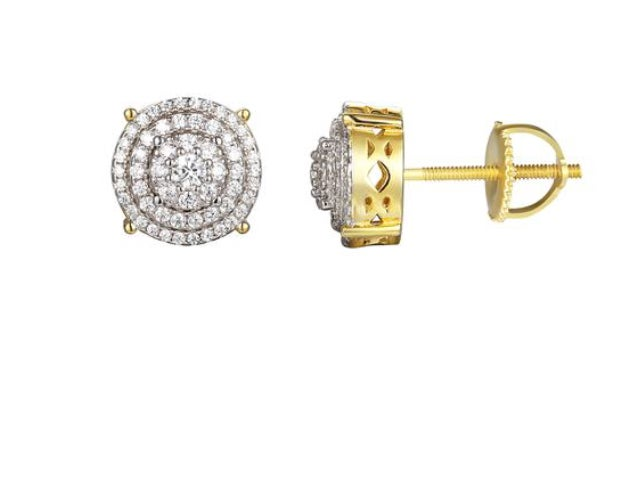 Image of Solitaire Round Earrings