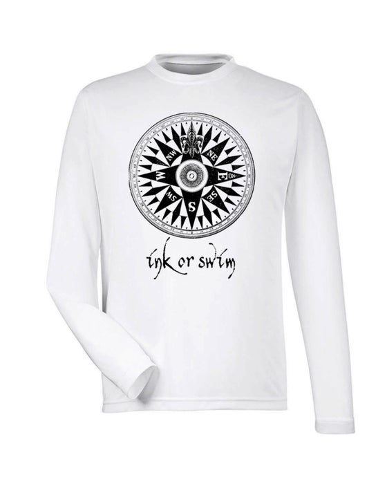 Image of Ink Or Swim 'Rose of the Winds' Men's SPF 50 Shirt