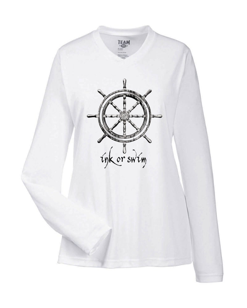 Image of Ink or Swim 'At the Helm' Women's SPF 50 Shirt