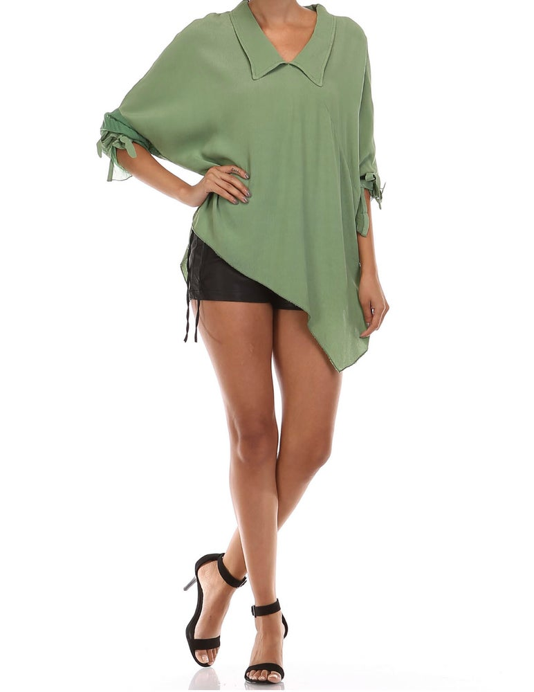 Image of  long-sleeved blouse