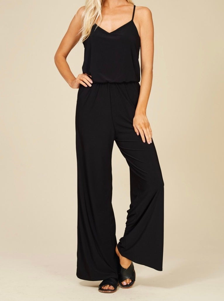 Image of navy blue jumpsuit