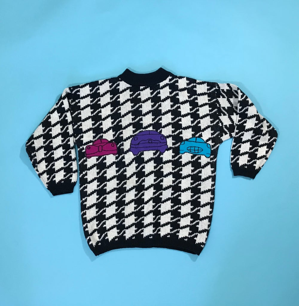 Image of Vintage Triple Car Sweater