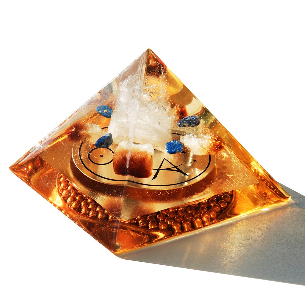 Image of Medium:  Brazilian Quartz/Citrine/Lapis Lazuli/STAR NATIONS Disk/Gd/Amber-4